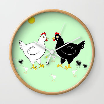 Family Hen Wall Clock by Zia