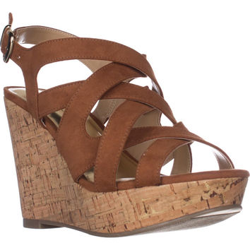 TS35 Maddor Casual Wedge Sandals, Cognac, 6 W US