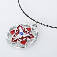 Naruto Uchiha Sasuke Eternal Mangekyo Sharingan Cosplay Necklace mp001983