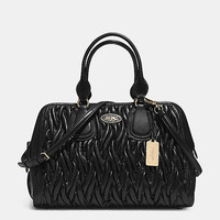 SATCHEL IN GATHERED LEATHER