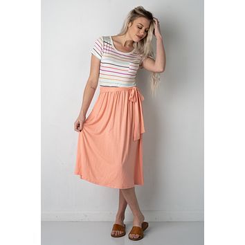 Sweet Temptations Striped Midi Dress (S-XL)