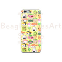 Japanese Foods Phone Case, Case for iPhone 6s, 5, 5s, Kawaii Phone Case, Sushi Phone Case, Gift for Her, Gift for Teens, Custom Phone Case