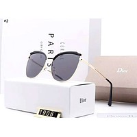 Dior new women's driving box polarized color film sunglasses #2