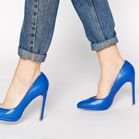 Truffle Collection Alma Blue Court Shoes