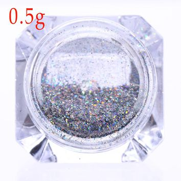 Holographic Rainbow Glitter Flakes .Laser Super Shine Pigment Powder Manicure Decoration