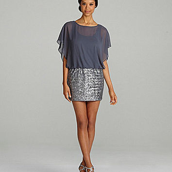 Xscape Sequin-Blouson Dress | Dillards.com