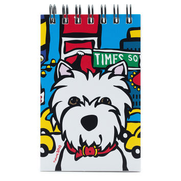 NYC Westie in Times SQ Spiral Notepad