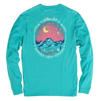 Starry Night Long Sleeve Tee in Ceramic by The Southern Shirt Co. - FINAL SALE
