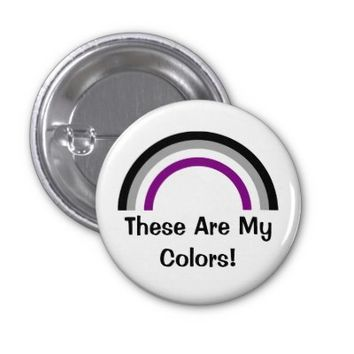 Asexuality rainbow pride Button from Zazzle.com