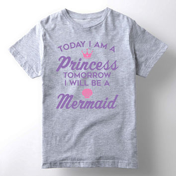 Athletic Heather 'Today I Am A Princess' Tee - Toddler & Girls