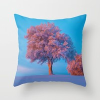 Stay A While Throw Pillow by Gallery One