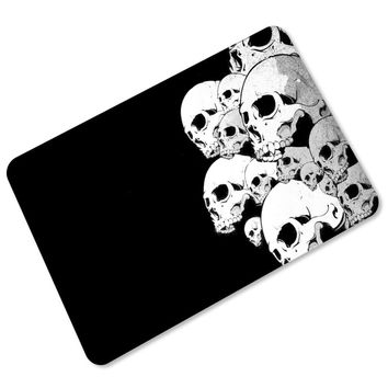 1pcs  Skull Pattern Anti-Slip Carpet Door Mats Doormats Outdoor Kithchen Bathroom Living Room Floor Mat Rug