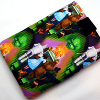 Hand Crafted Tablet Case From Wizard of Oz--Emerald City  Fabric /Case for: iPad, Kindle Fire HD, Samsung, Google Nexus, iPad Air, iPad Mini