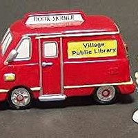CHECK IT OUT BOOKMOBILE Village Public Library #5451-8 Department 56 SNOW VILLAGE (3 Piece Set)