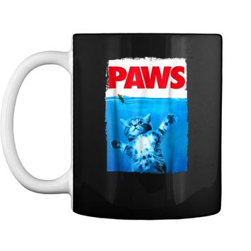 Paws Cat and Mouse  Cute Funny Cat Lover  Mug