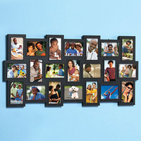 """Large Photo Collage Frame 21-4""""x 6"""" Pics Over 3 Feet Tall Hangs Vertical or Horizontal"""