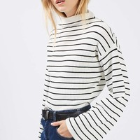 Wide Sleeve Stripe Jumper | Topshop