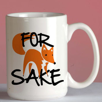 For Fox mug coffee, mug tea, size 8,2 x 9,5 cm