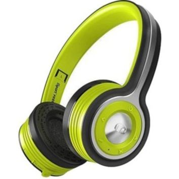 Monster - Isport Freedom On-Ear Bluetooth Headphones - Black/Neon Green