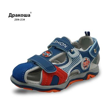 Apakowa 2017 summer kids beach shoes with Arch support closed toe sandals for boys designer toddler Boys sandals Children sandal