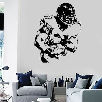 Wall Stickers Vinyl Decal US Football Player Super Bowl Decor For Men Unique Gift (z2183)