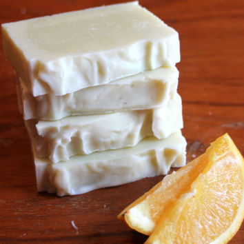 Citrus Mint Soap Handmade Soap Homemade Soap Sensitive Skin Soap Gentle Soap Orange Soap