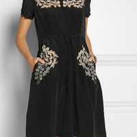 Collette by Collette Dinnigan | Embroidered silk dress | NET-A-PORTER.COM