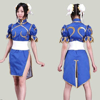 Halloween costumes for women anime clothes Street Fighter Chun Li cosplay costume for girls fancy dress game costume Cheongsam