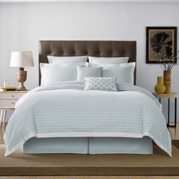 Real Simple® Soleil Duvet Cover in Aqua