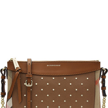 Burberry Shoes & Accessories - Peyton Embellished Shoulder Bag with Leather