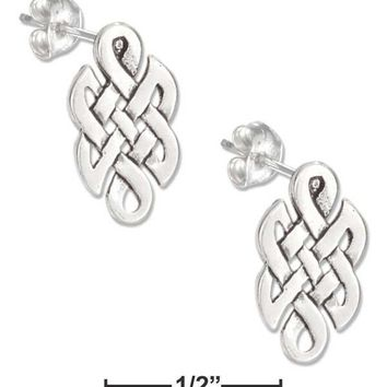 Sterling Silver Earrings:  Mini Celtic Knot Earrings On Stainless Steel Posts And Nuts