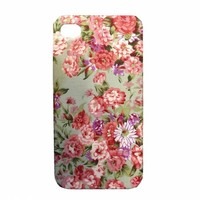 Handmade Vintage Floral Cloth Case For iPhone 5/5S