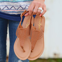 Summer Wanderlust Braided Sandal - Tan