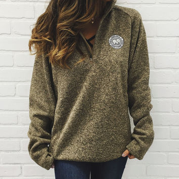 Forest Heathered Quarter Zip