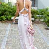 Convertible Draped Maxi Dress