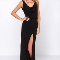 Shooting Starlet Black Maxi Dress