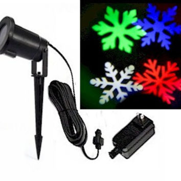 Multi Color Snowflake Projection Lights