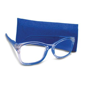 Blue 1.25 Magnification Rhinestone Reading Glasses
