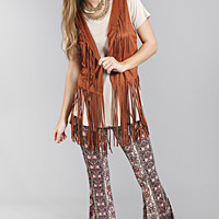 turn back time fringe vest