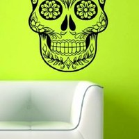 Sugarskull Version 5 Wall Vinyl Decal Sticker Art Graphic Sticker Sugar Skull