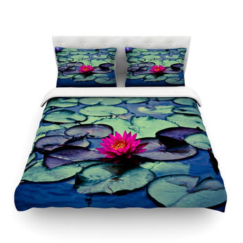 "Ann Barnes ""Twilight"" Water Lily Featherweight Duvet Cover"