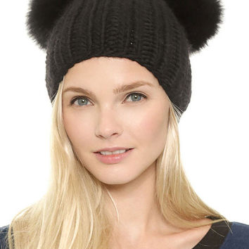 Knitted Hat With Ears