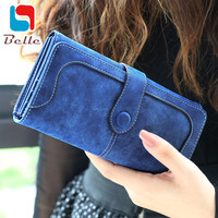 Nubuck leather wallet women luxury brand 2016 coin purse bag female clutch bag Handbags dollar price long wallets carteira