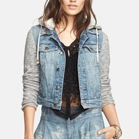 Women's Free People Denim & Knit Jacket