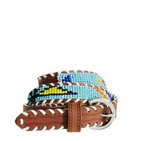 ASOS Sead Bead Geo-Tribal Waist Belt - Tan