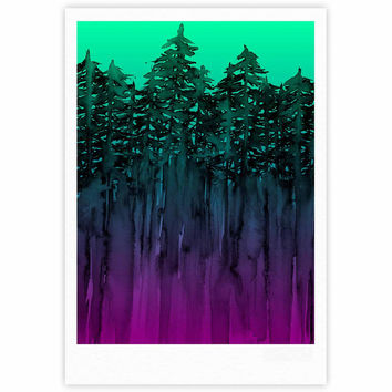 "Ebi Emporium ""Forest Through The Trees 9"" Purple Black Fine Art Gallery Print"
