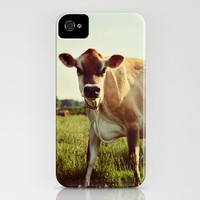 jersey cow iPhone Case by Beverly LeFevre | Society6