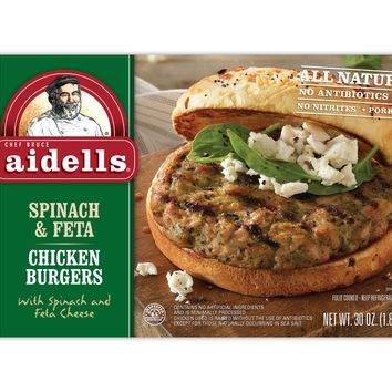 AIDELLS CHICKEN FULLY COOKED BURGER