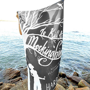 To Kill a Mockingbird Book Scarf - Black