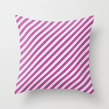 Velveteen Purple Stripes Pillow - Valentine's Day - Purple Throw Pillow - Housewares - Home Decor - Teen Room Decor - Girls Bedroom